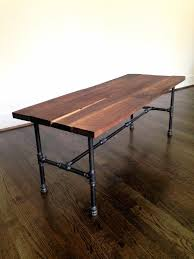 Pipe Desk Extra Thick Pipe Reclaimed Wood Desk Industrial Desk by The