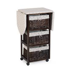Chest Of Drawers With Wicker Drawers Wood Wicker Ironing Board Center With Baskets Hayneedle
