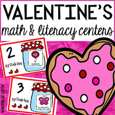 valentine u0027s day math and literacy centers for preschool pre k