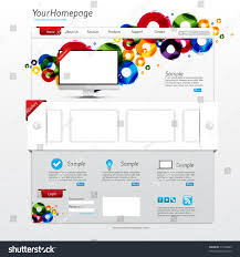 free template for website with login page website template with login dalarcon com colorful website template clean modern design stock vector