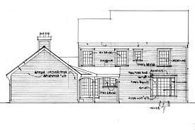 salt box houses house plan colonial house plans iverness 42 008 associated designs