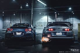 stanced supra liberty walk gtr and a mean looking toyota supra