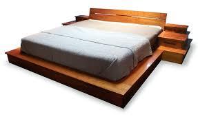Handcrafted Wood Bedroom Furniture - platform bed large custom furniture custom designed