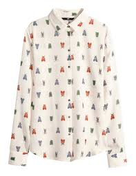 H M Draped Blouse Moth Print Shirt From H U0026m Fashion Wardrobe Pinterest