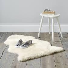 White Fur Rugs Sheepskin Rug Single Pelt Ivory Fur 2 X 3 Genuine Sheepskin Rug