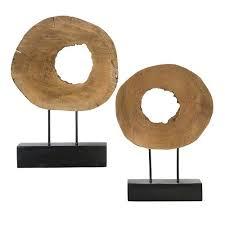wood sculpture decor 2 wood sculpture decor set