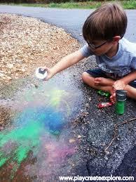 play create explore create rainbow rain puddles rainbow