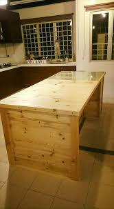 Diy Kitchen Island Pallet Recycled Pallet Kitchen Counter Pallet Furniture