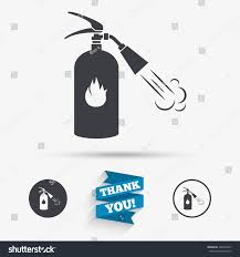 fire extinguisher sign icon fire safety stock vector 428522341
