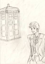 the tenth doctor and his tardis by yaoilovr on deviantart