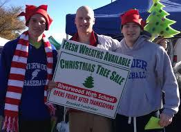 riverwood baseball team selling christmas trees reporter newspapers