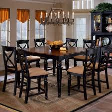 solid wood counter height table sets northern heights wood counter height dining table stools in black