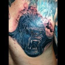 ape monkey gorilla close up general detailed animal tattoo image