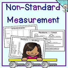 non standard measurement length worksheets for kindergarten