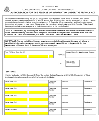 sample privacy act release form 9 examples in word pdf