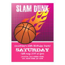 slam dunk invitations u0026 announcements zazzle