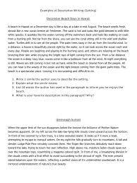 descriptive essay sample about a person examples of descriptive writing setting