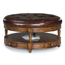 beautiful round leather ottoman leather ottoman with tray leather
