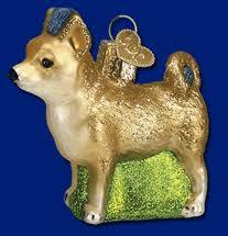 world chihuahua ornament glass 2 1 4