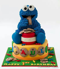 3d cookie monster cake first birthday ideas for ricky pinterest