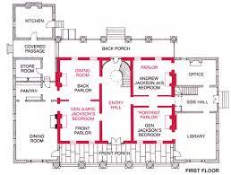 hidden passageways floor plan room by mansion of andrew jackson the hermitage house plan floor