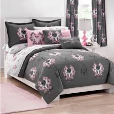 light grey comforter set marvellous pink grey bedding set with skull tree pattern with king