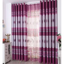 Insulated Thermal Curtains Purplish And Gray Polyester Thermal Blackout Insulated Curtains
