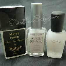 which matte top coat is best pointless cafe