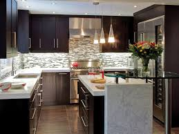plush modern brown kitchen design houzz on home ideas homes abc