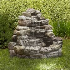 Patio Fountains Diy by Tiered Stone Water Fountain For Minimalist Outdoor Garden Design