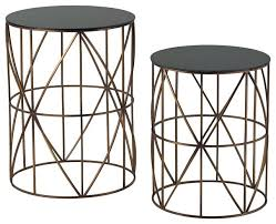 contemporary accent tables round metal end table aciarreview info