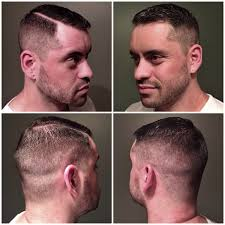 heavy weighted side to tight fade with hard part skin fade at