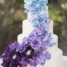 purple and blue wedding purple wedding cakes