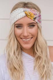 headband floral duo floral turband twist headband three bird nest