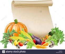 illustration of thanksgiving harvest festival or fresh produce