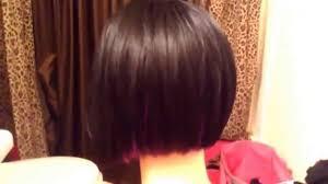 bob haircut wig w purple highlights youtube