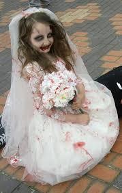 Halloween Costume Wedding Dress Childs Girls Halloween Zombie Bride Dress Costume Zombiebrideuk