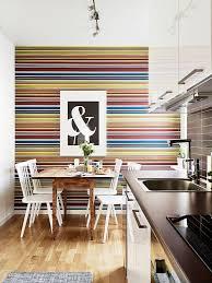wallpaper in the kitchen what a brilliant idea