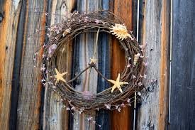 peace sign wreath rustic decor bohemian beach decor
