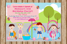 how to make pool party invitations girls water park birthday invitations swim party invitations