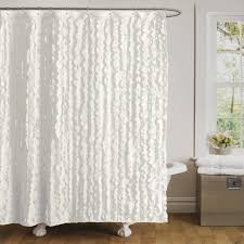 White Ruffled Curtains by Curtains White Ruffle Shower Curtain Outstanding Image Ideas