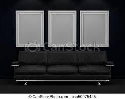 in livingroom interior poster mockup in livingroom 3d rendering clip