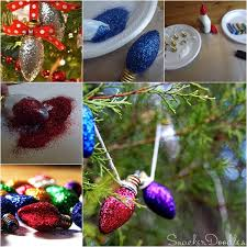 wonderful diy glitter light bulb ornaments for