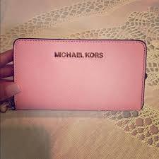 light pink michael kors wristlet michael kors clutches wallets bnwot mk pale pink wristlet poshmark