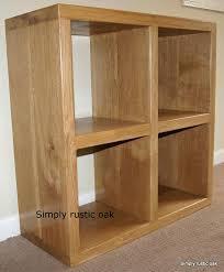 Cube Bookcase Wood Bookcase Solid Wood Cube Shelves Oak Cube Block Bookcase Wildon