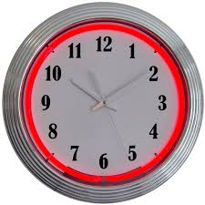 standard neon wall clocks for sale