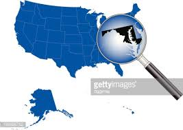 maryland map vector united states of america massachusetts map vector getty images