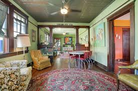Arts And Crafts Living Room by Colorful Algiers Point Arts And Crafts Home Boasts Big Back Patio