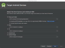 create a project android studio