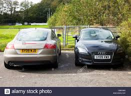 gold cars two 2 audi tt u0027s cars side by side one front one back gold and